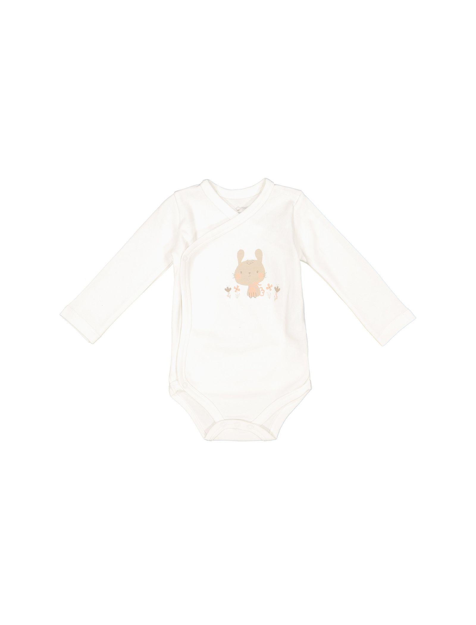 تی شرت و شلوار نخی نوزادی دخترانه - ال سی وایکیکی - کرم    - 2