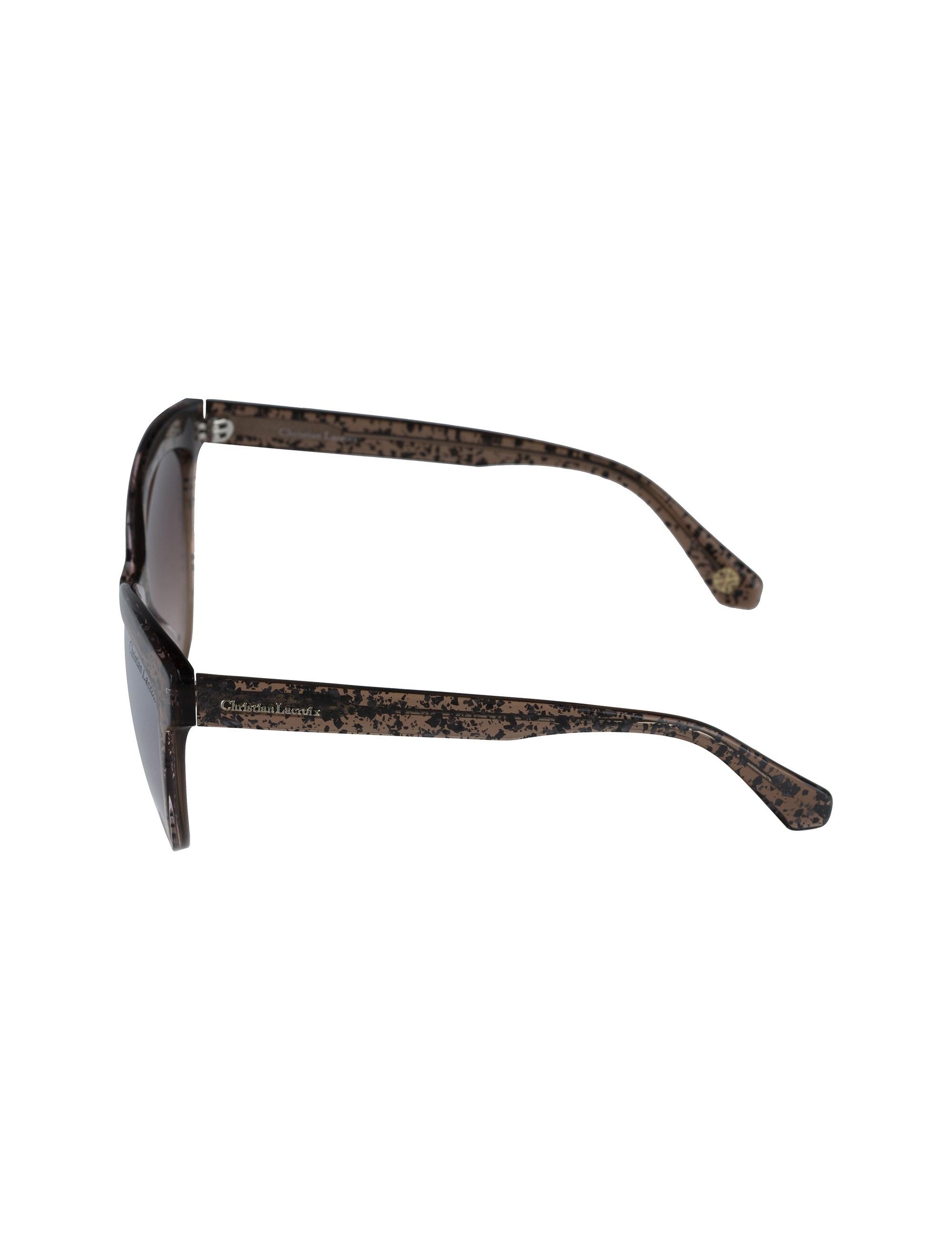 عینک آفتابی گربه ای زنانه - کریستین لاکروآ - کاراملي شفاف - 3