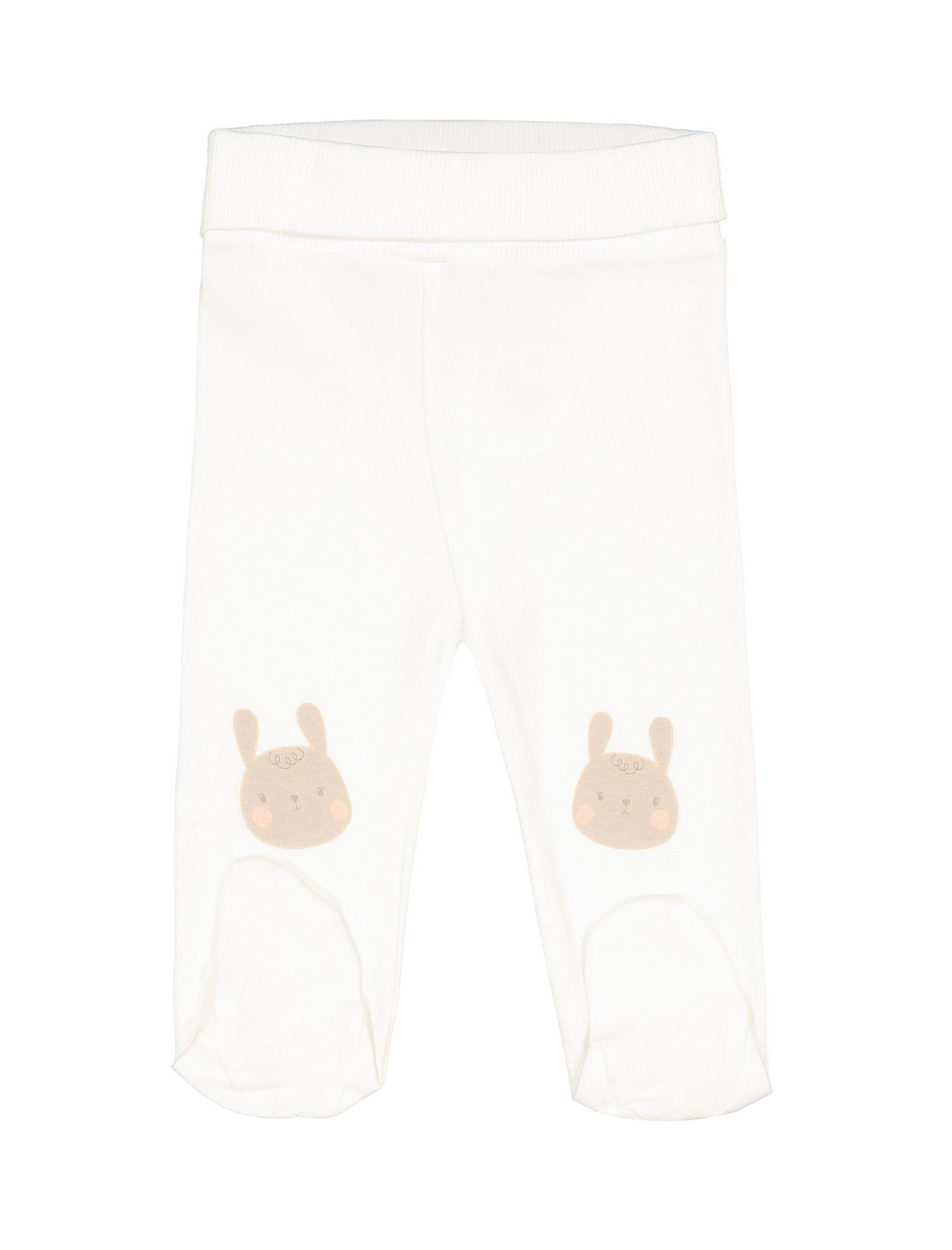 تی شرت و شلوار نخی نوزادی دخترانه - ال سی وایکیکی - کرم    - 3