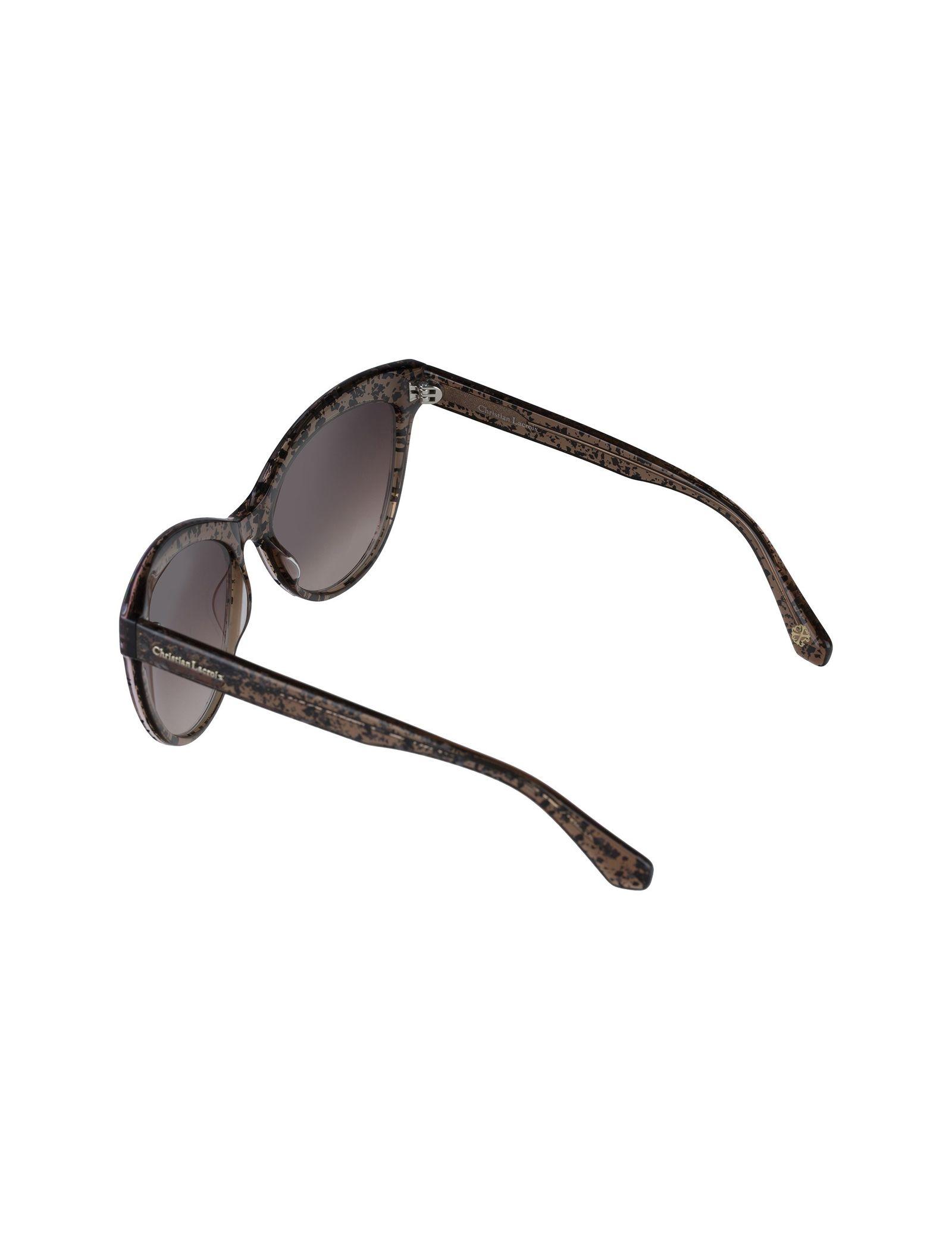 عینک آفتابی گربه ای زنانه - کریستین لاکروآ - کاراملي شفاف - 4