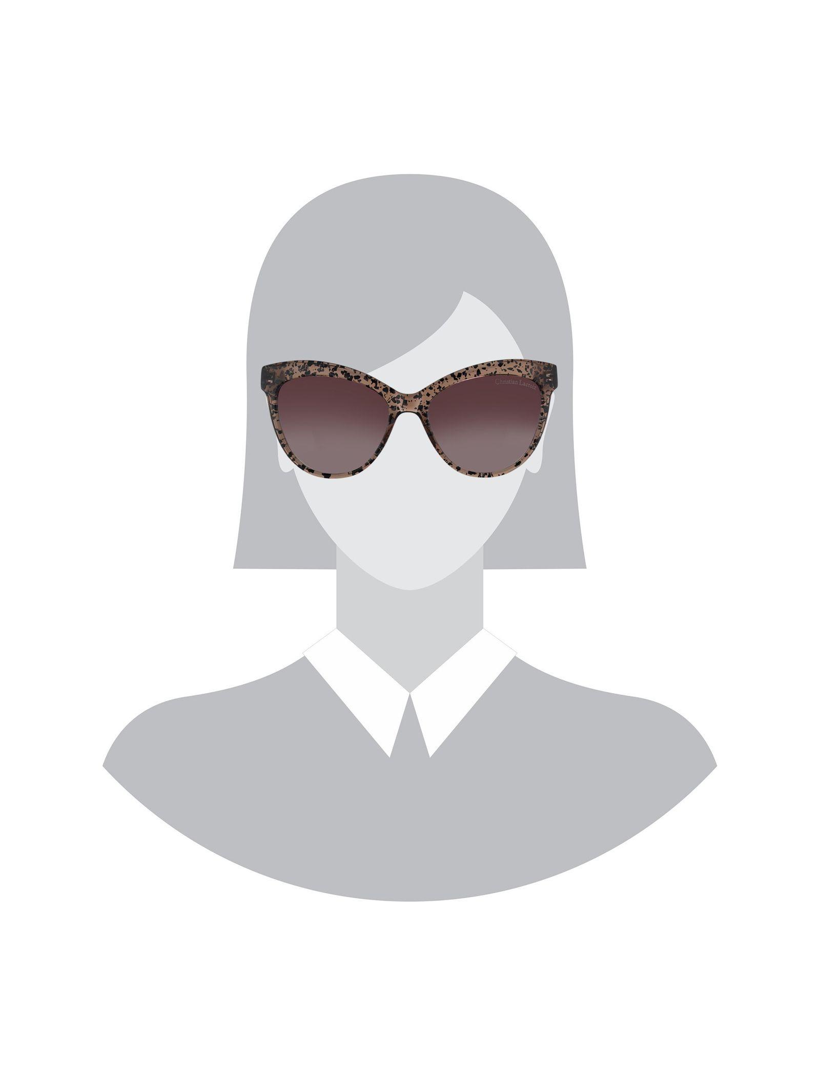 عینک آفتابی گربه ای زنانه - کریستین لاکروآ - کاراملي شفاف - 5