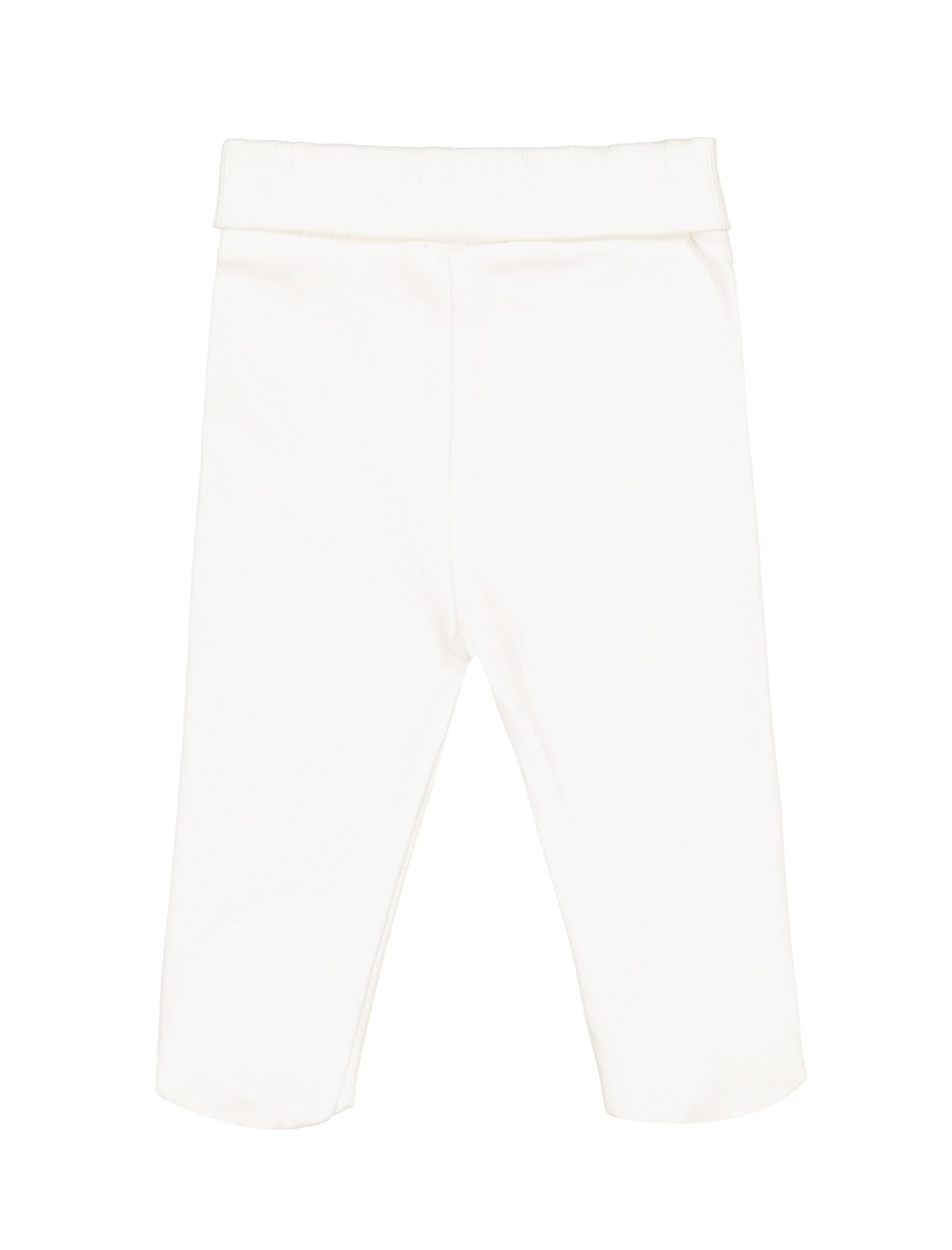 تی شرت و شلوار نخی نوزادی دخترانه - ال سی وایکیکی - کرم    - 5