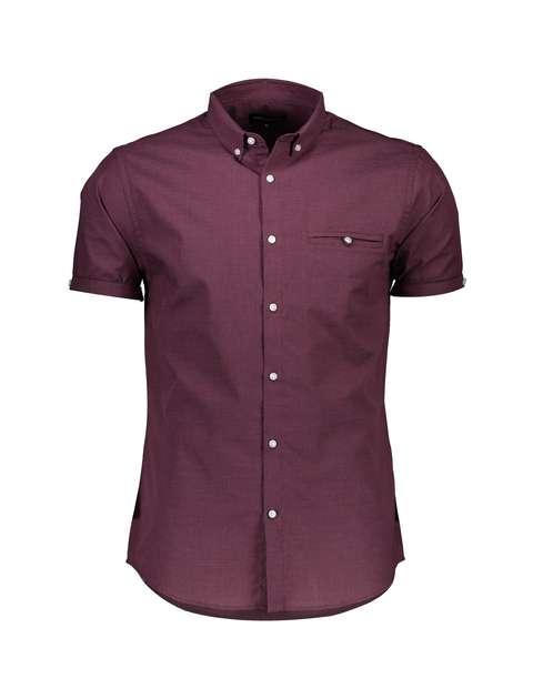 پیراهن نخی آستین کوتاه مردانه - رد هرینگ