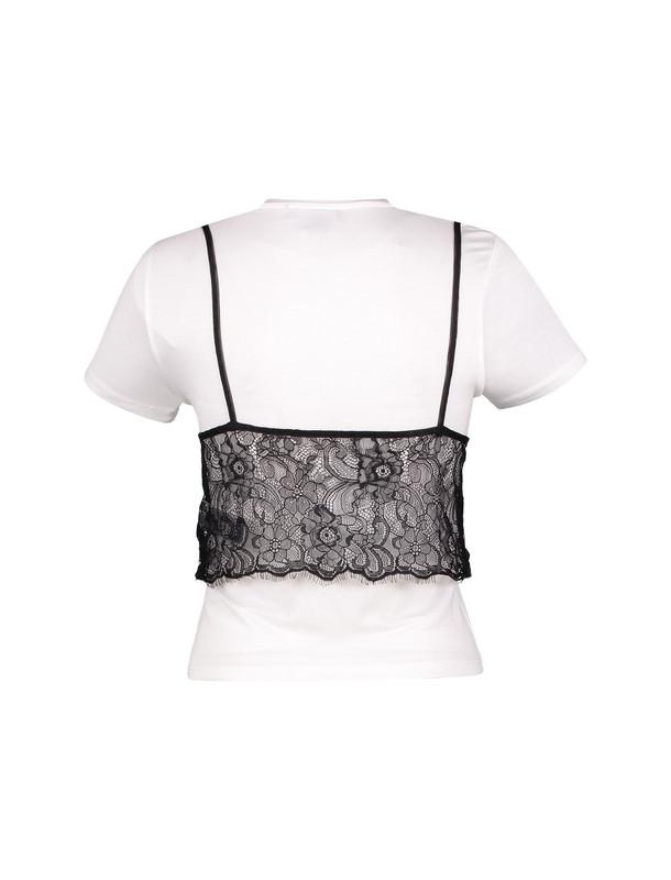 تی شرت ویسکوز یقه گرد زنانه - نیو لوک