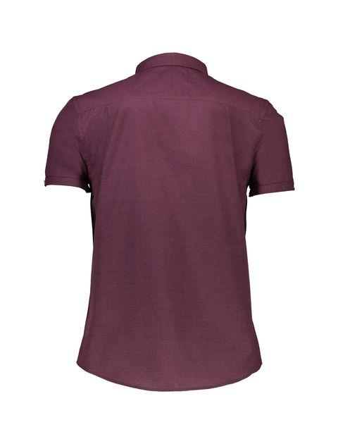پیراهن نخی آستین کوتاه مردانه - رد هرینگ - زرشکي - 3