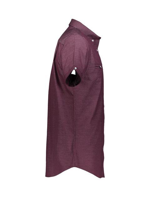 پیراهن نخی آستین کوتاه مردانه - رد هرینگ - زرشکي - 5