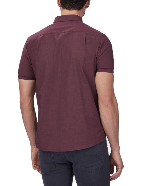 پیراهن نخی آستین کوتاه مردانه - رد هرینگ - زرشکي - 7
