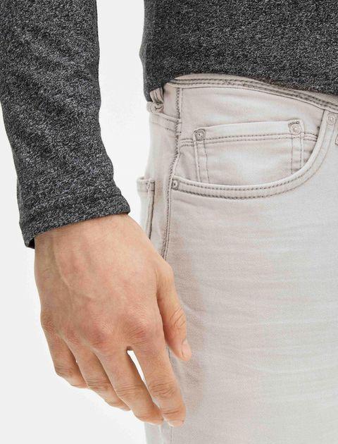 شلوار جین راسته مردانه - طوسي روشن - 7