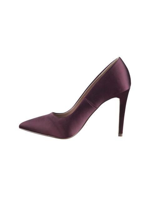 کفش پاشنه بلند زنانه - زرشکي - 1