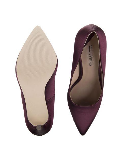 کفش پاشنه بلند زنانه - زرشکي - 2