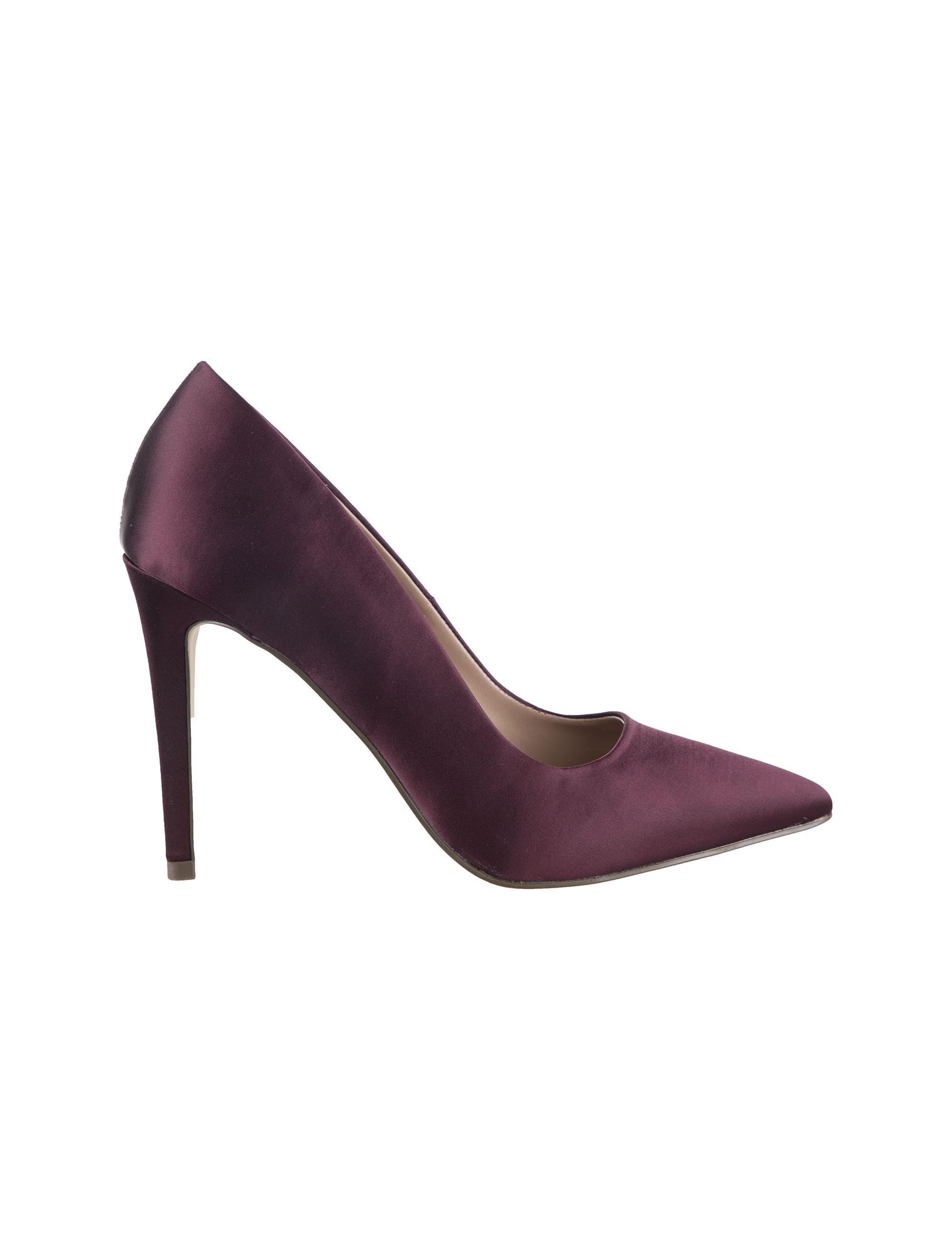 کفش پاشنه بلند زنانه - زرشکي - 3