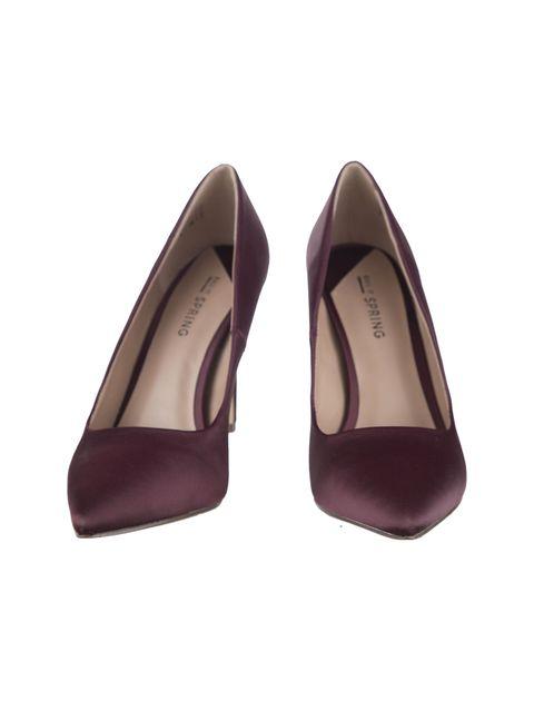 کفش پاشنه بلند زنانه - زرشکي - 4