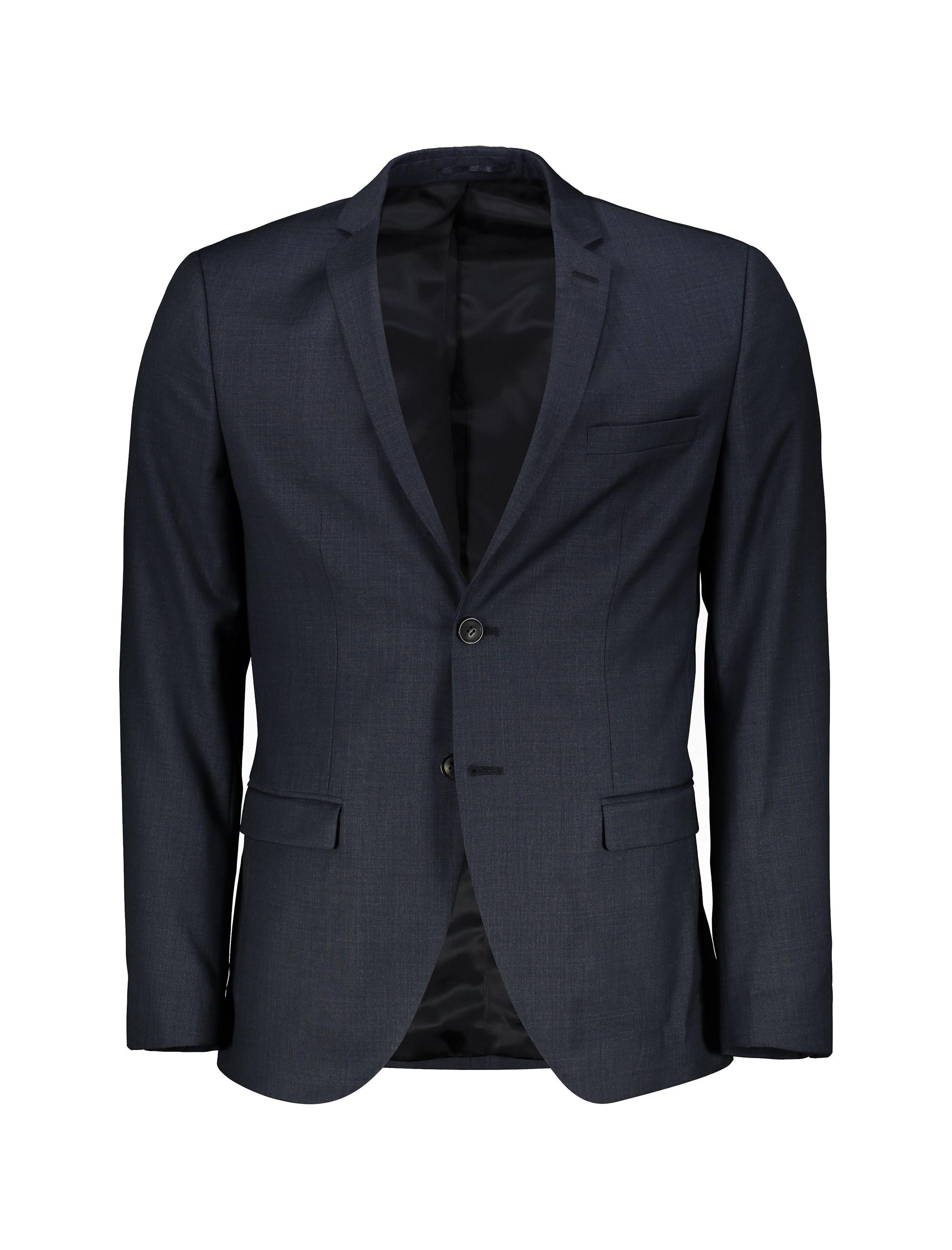 کت تک رسمی پشمی مردانه - سرمه اي - 1