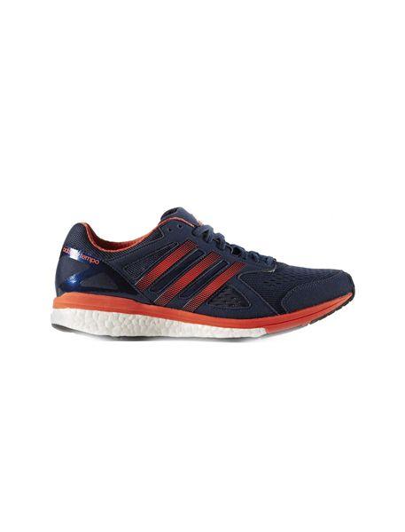 کفش دویدن بندی مردانه Adizero Tempo 8 - سرمه اي و نارنجي - 1