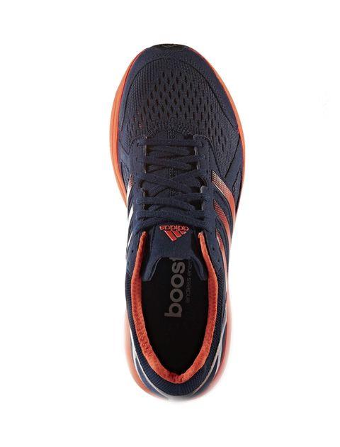کفش دویدن بندی مردانه Adizero Tempo 8 - آدیداس - سرمه اي و نارنجي - 2