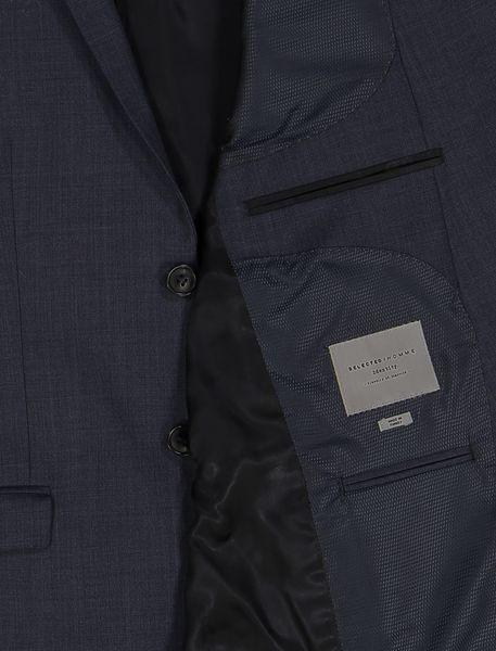 کت تک رسمی پشمی مردانه - سرمه اي - 4