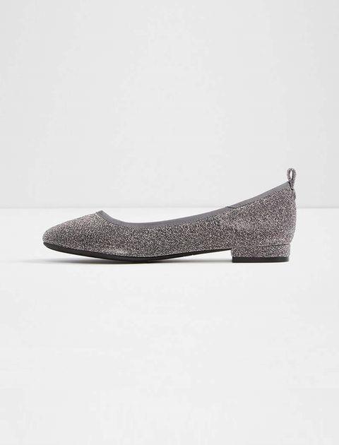 کفش تخت عروسکی زنانه - نقره اي - 2