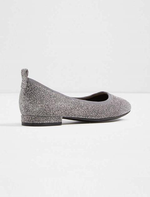 کفش تخت عروسکی زنانه - نقره اي - 3