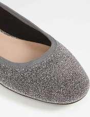کفش تخت عروسکی زنانه - نقره اي - 4
