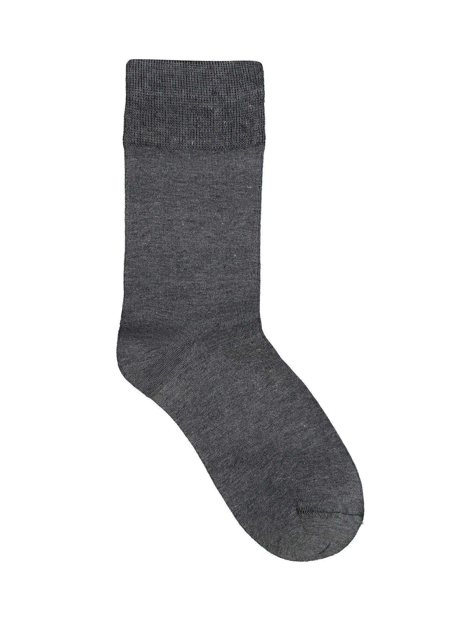 جوراب نخی ساق متوسط مردانه - آر اِن اِس - طوسي تيره - 1