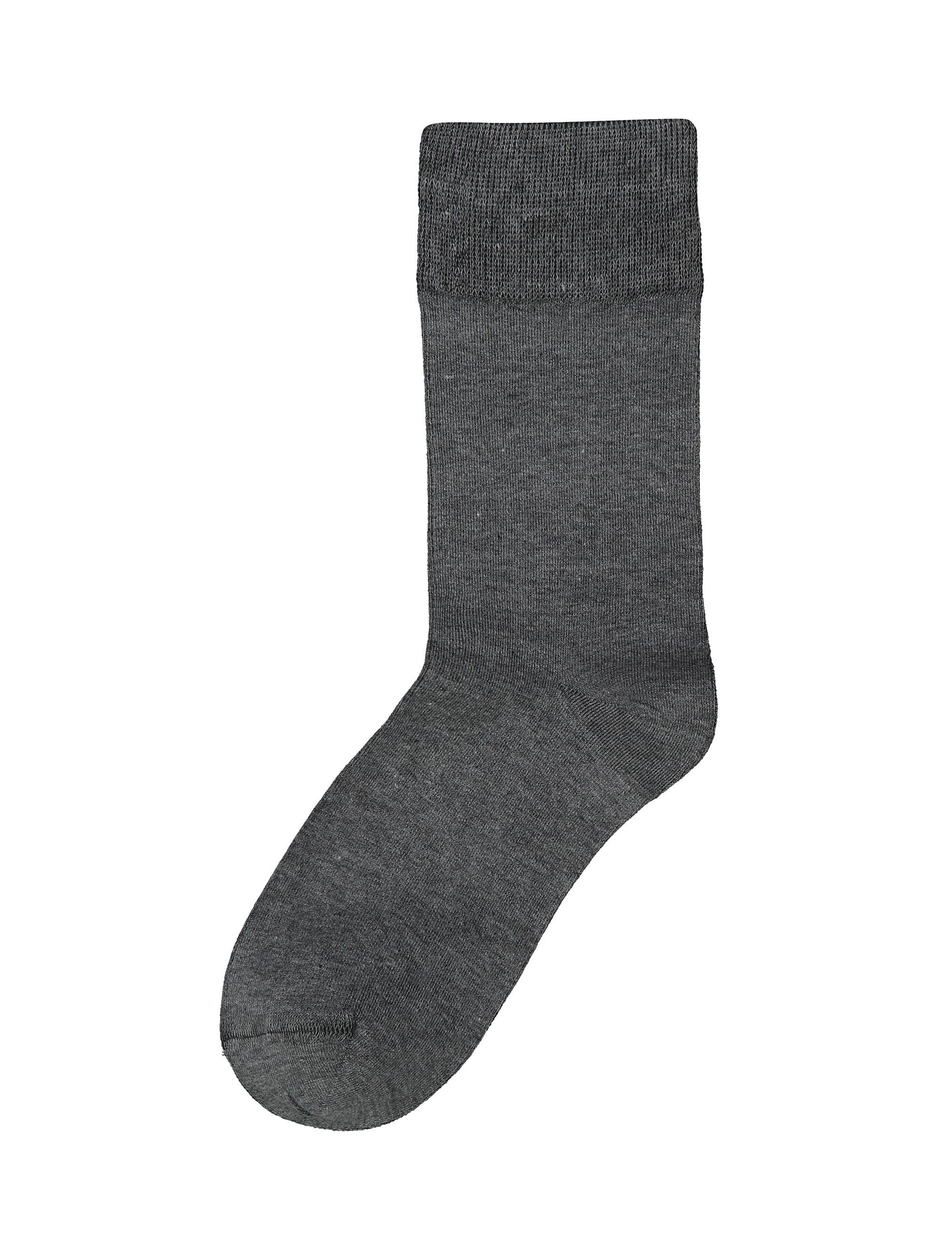 جوراب نخی ساق متوسط مردانه - آر اِن اِس - طوسي تيره - 2