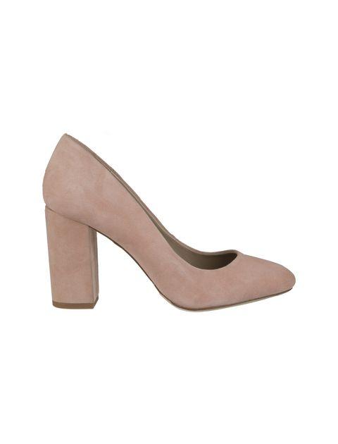 کفش پاشنه بلند جیر زنانه - صورتي - 1