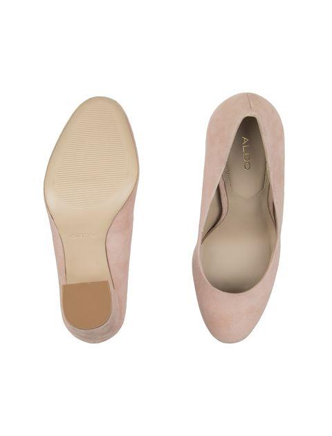 کفش پاشنه بلند جیر زنانه - صورتي - 2