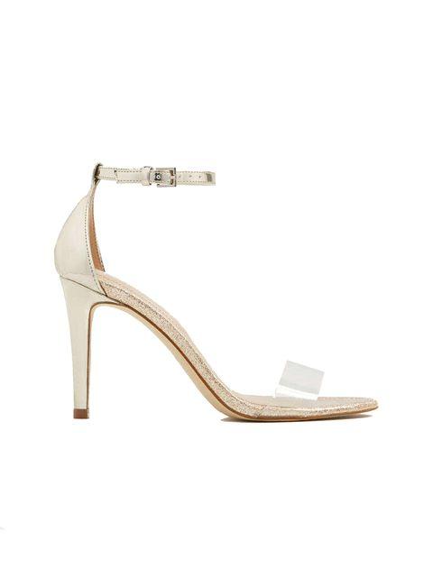 کفش پاشنه بلند زنانه - طلايي - 1