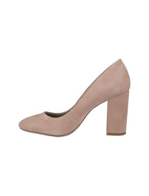 کفش پاشنه بلند جیر زنانه - صورتي - 3