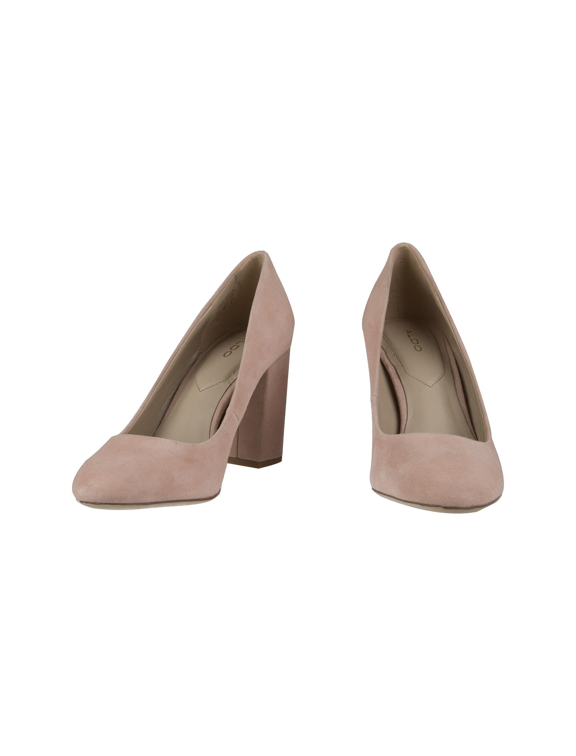 کفش پاشنه بلند جیر زنانه - صورتي - 4