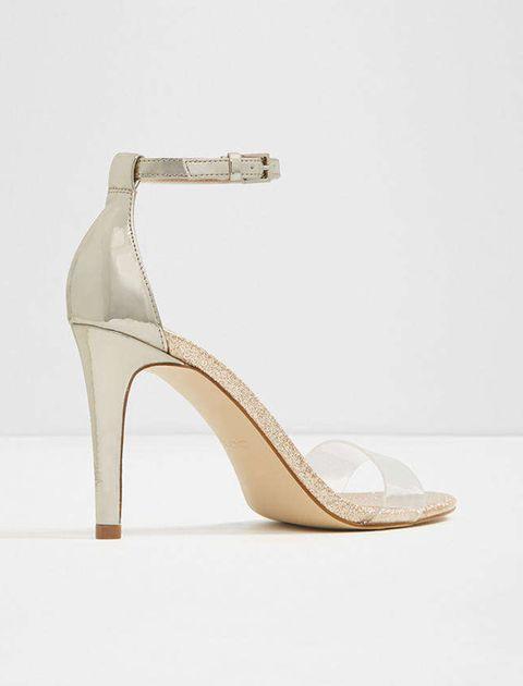 کفش پاشنه بلند زنانه - طلايي - 3