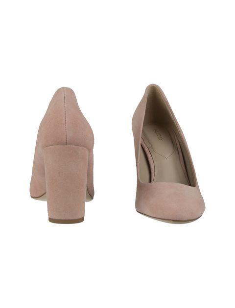 کفش پاشنه بلند جیر زنانه - صورتي - 5