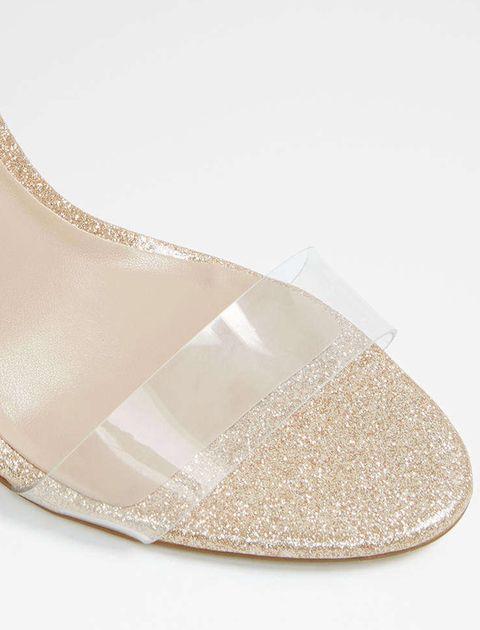 کفش پاشنه بلند زنانه - طلايي - 4