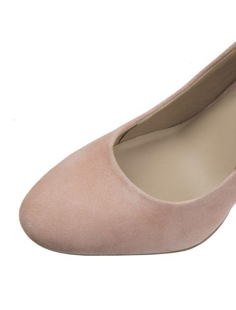 کفش پاشنه بلند جیر زنانه - صورتي - 6