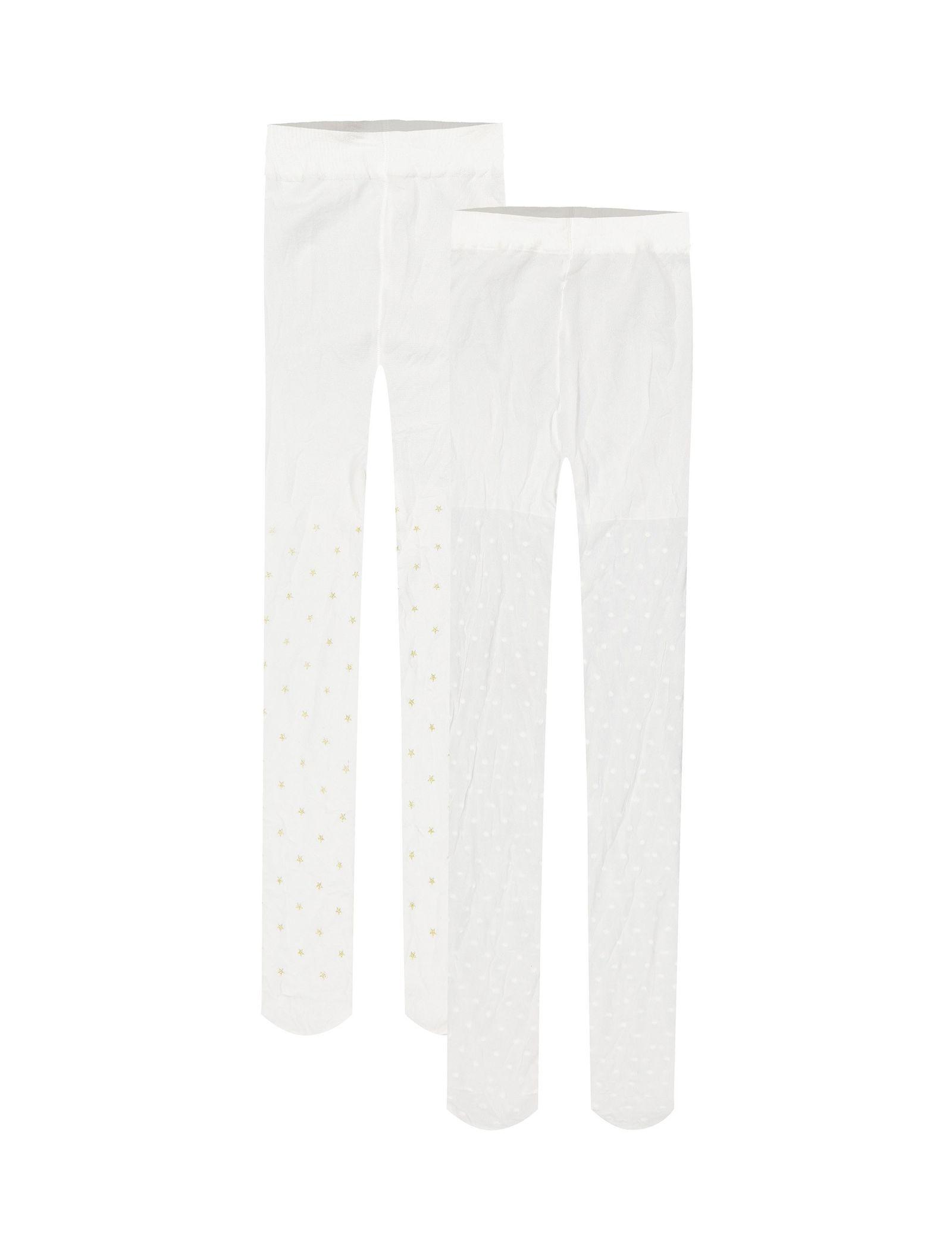 جوراب شلواری دخترانه بسته دو عددی - ارکسترا - سفيد - 1