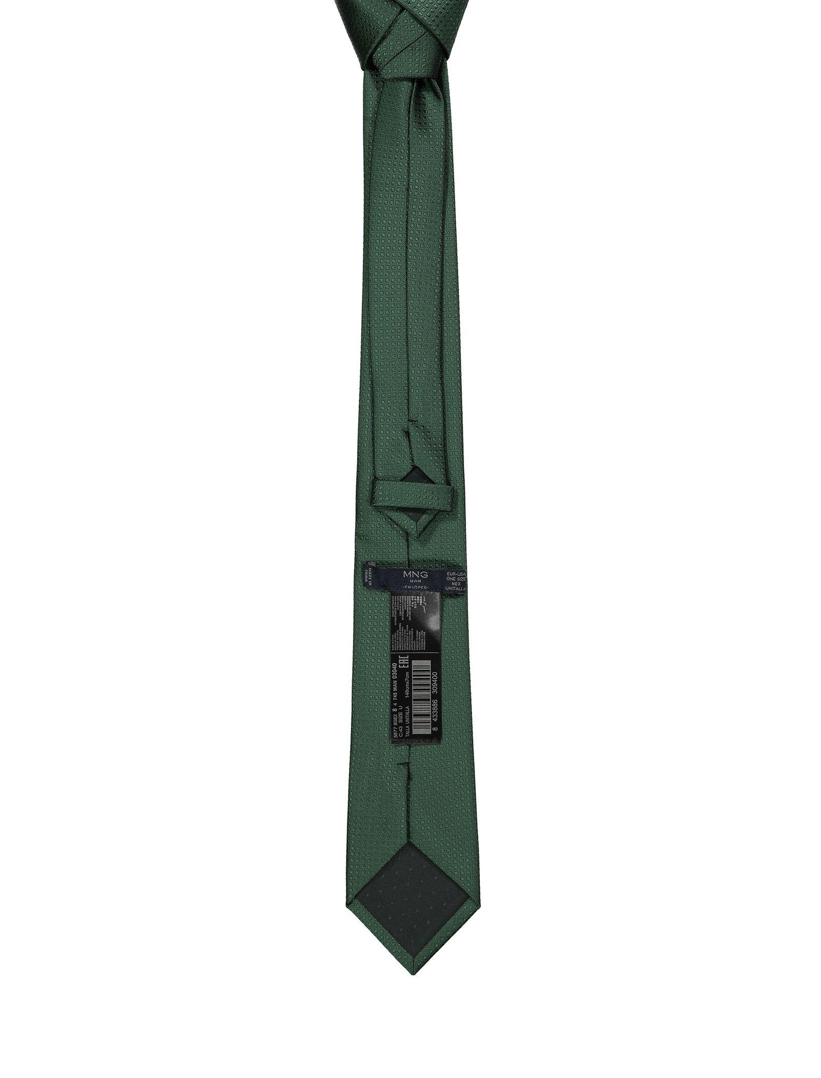 کراوات ساده  مردانه - مانگو - سبز - 2