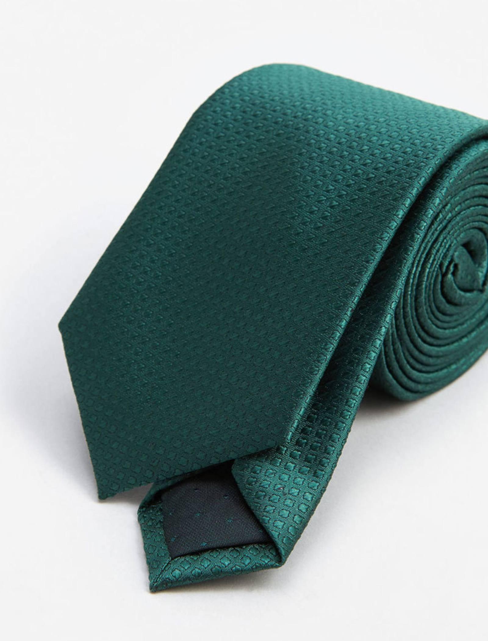 کراوات ساده  مردانه - مانگو - سبز - 3