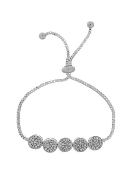 دستبند زنجیری زنانه - نقره اي - 1