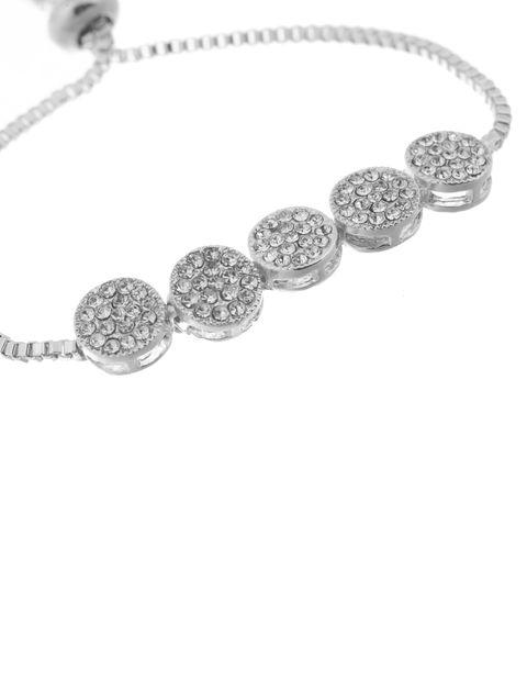 دستبند زنجیری زنانه - کوییز - نقره اي - 2