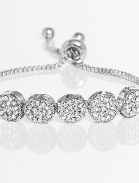 دستبند زنجیری زنانه - نقره اي - 4