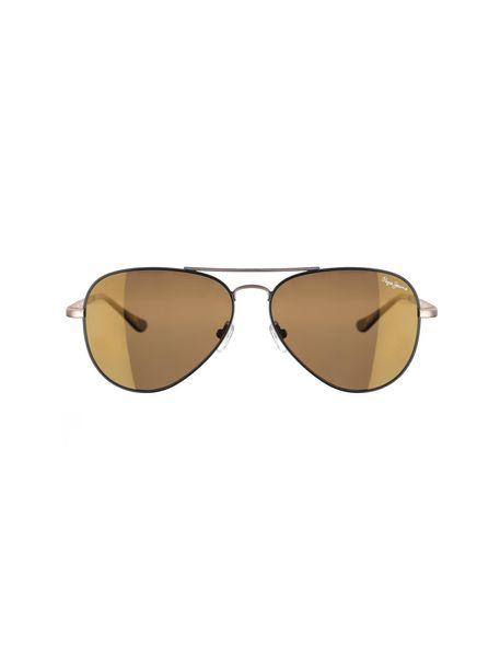 عینک آفتابی خلبانی زنانه - مشکي و طلايي - 1
