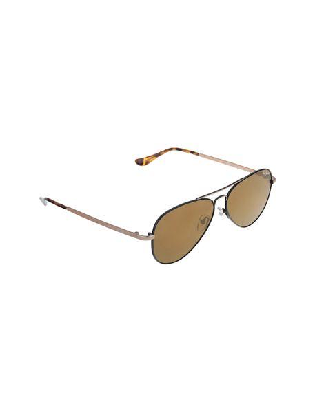 عینک آفتابی خلبانی زنانه - مشکي و طلايي - 2