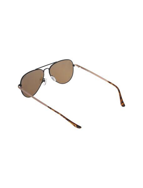 عینک آفتابی خلبانی زنانه - مشکي و طلايي - 4