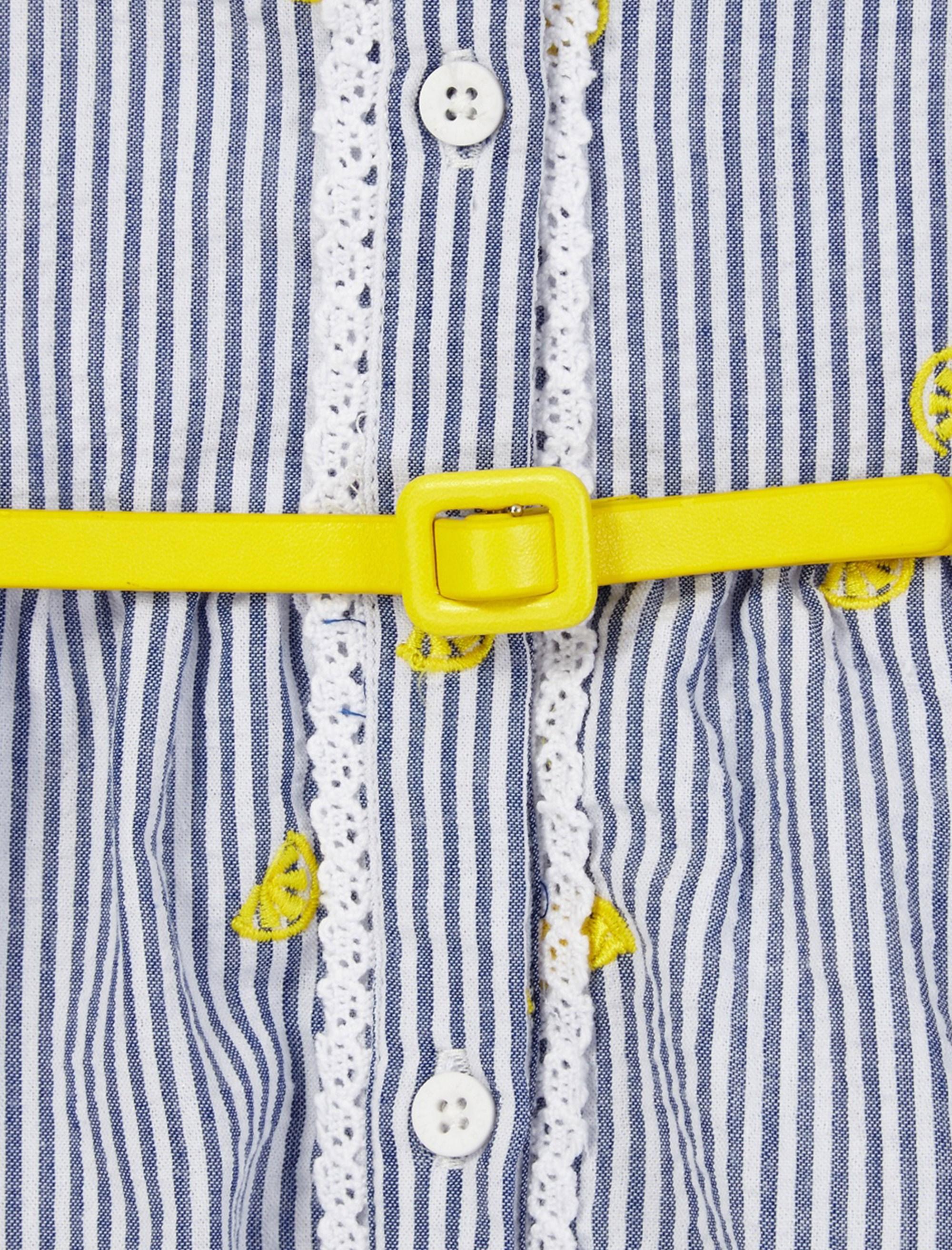 پیراهن میدی دخترانه - سفيد و آبي - 3