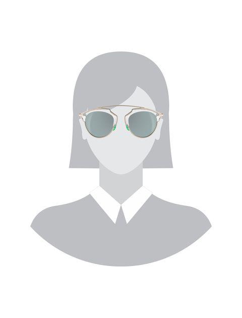 عینک آفتابی پنتوس زنانه - دیور - نقره اي - 5