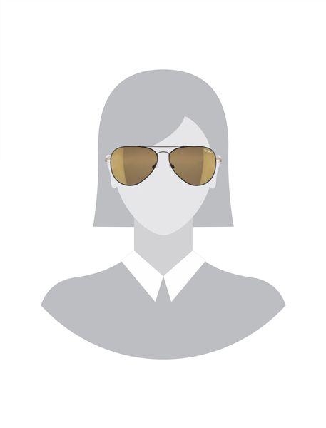 عینک آفتابی خلبانی زنانه - مشکي و طلايي - 5