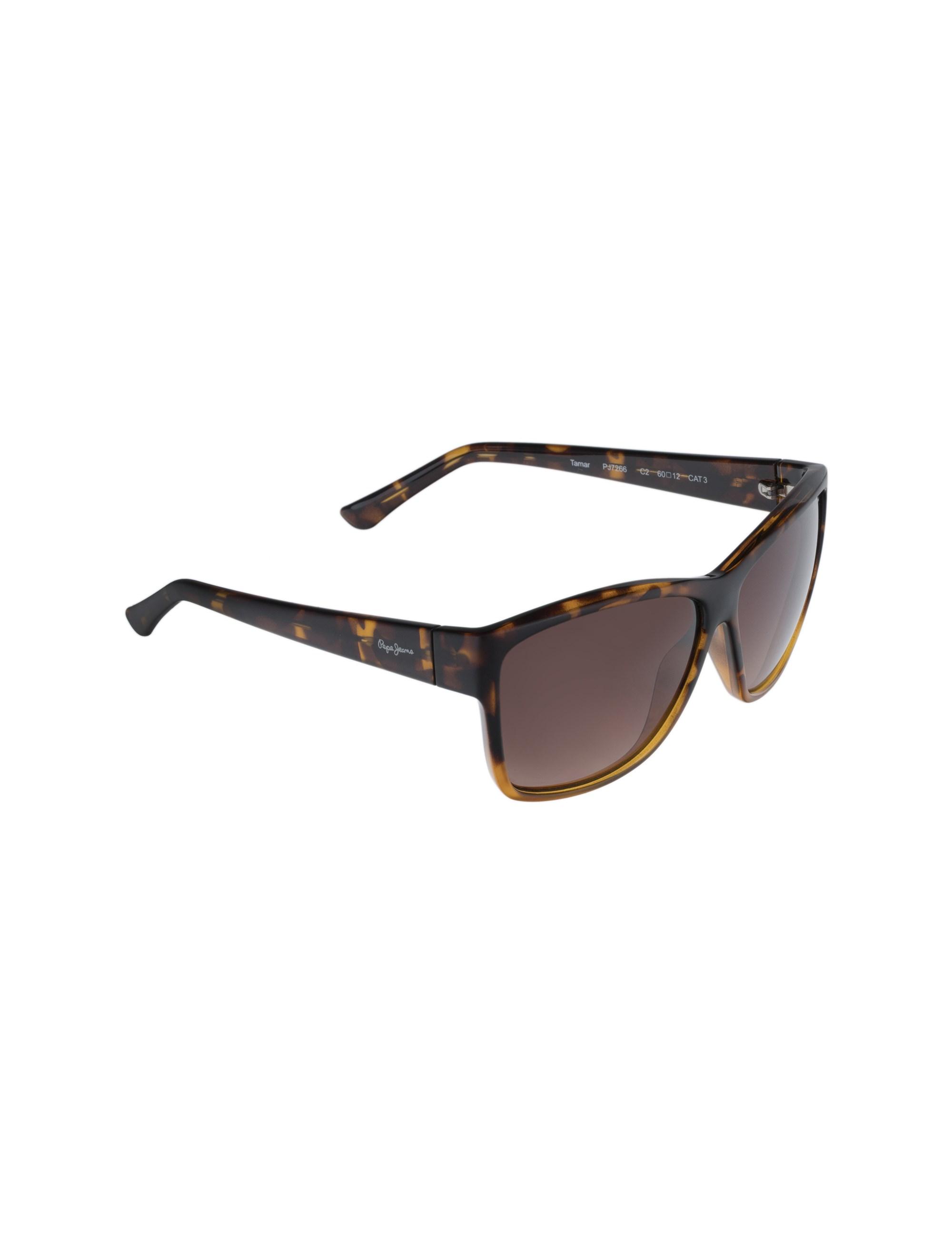 عینک آفتابی مربعی زنانه - قهوه اي  - 2