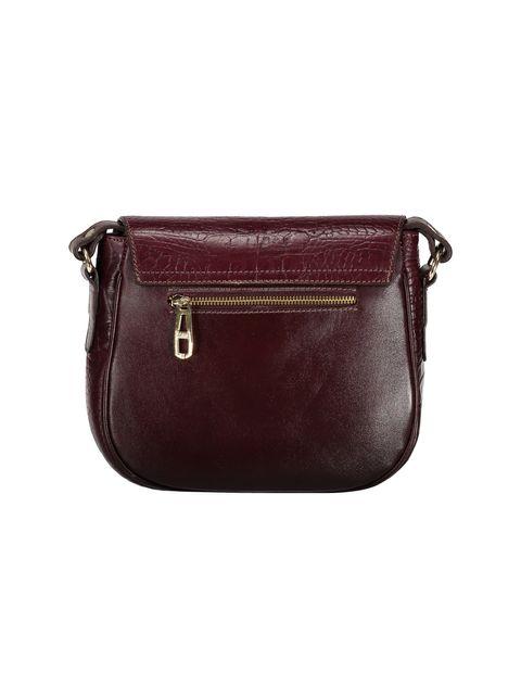 کیف دوشی چرم روزمره زنانه - زرشکي - 2