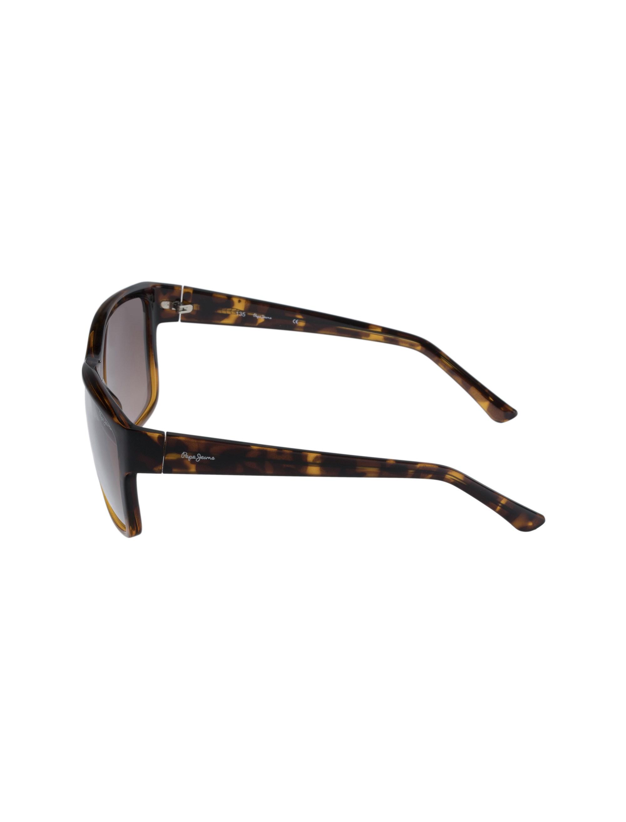 عینک آفتابی مربعی زنانه - قهوه اي  - 3