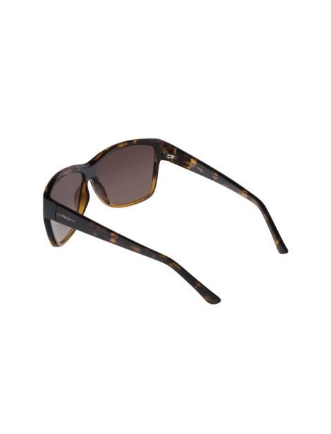عینک آفتابی مربعی زنانه - قهوه اي  - 4